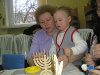 Families Celebrating Hanukkah