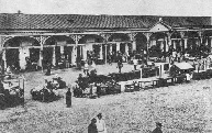 Picture of the Market Place, circa 1900.